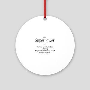 Superpower Round Ornament