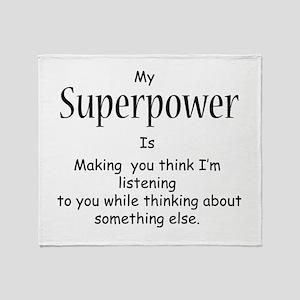 Superpower Throw Blanket