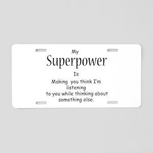 Superpower Aluminum License Plate