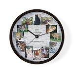 Wild Cats Wall Clock