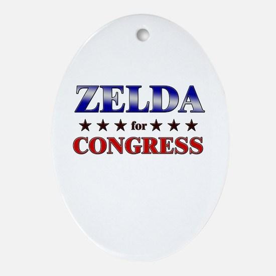 ZELDA for congress Oval Ornament