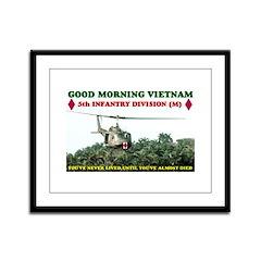 5th INFANTRY DIV VIETNAM Framed Panel Print