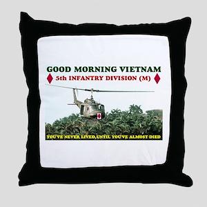 5th INFANTRY DIV VIETNAM Throw Pillow