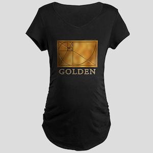 Golden Maternity Dark T-Shirt
