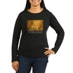 Golden Women's Long Sleeve Dark T-Shirt