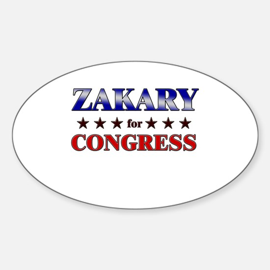 ZAKARY for congress Oval Decal