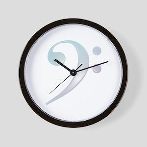 """Glassy"" Bass Clef Wall Clock"