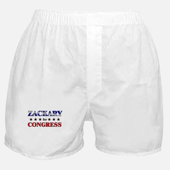 ZACKARY for congress Boxer Shorts