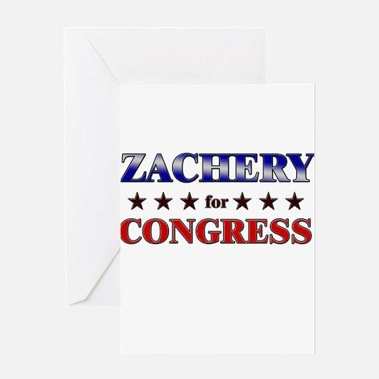 ZACHERY for congress Greeting Card