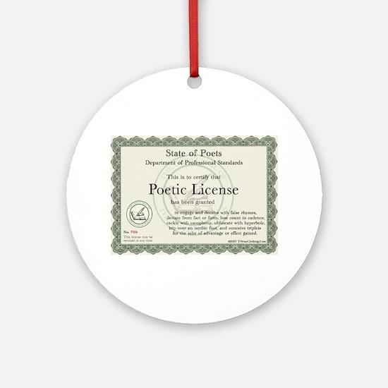 Poetic License Ornament (Round)