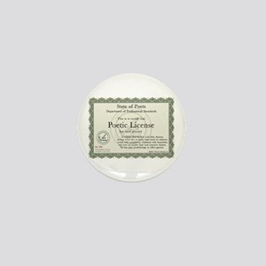 Poetic License Mini Button
