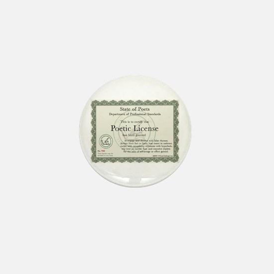 Poetic License Mini Button