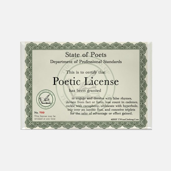 Poetic License Rectangle Magnet