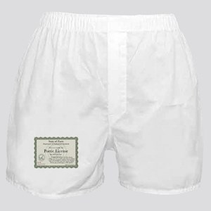 Poetic License Boxer Shorts