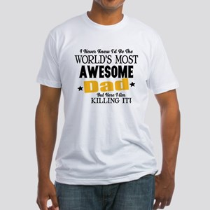 Awesome Dad Fitted T-Shirt