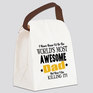 Awesome Dad Canvas Lunch Bag