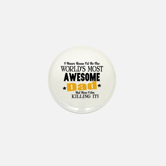 Awesome Dad Mini Button