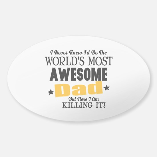 Awesome Dad Sticker (Oval)