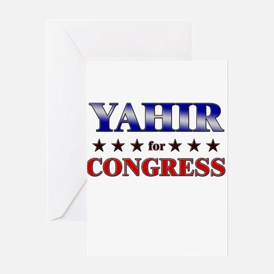 YAHIR for congress Greeting Card