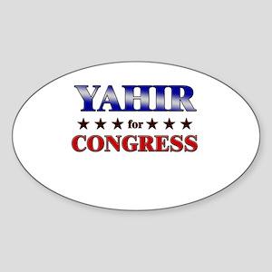 YAHIR for congress Oval Sticker
