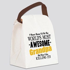 Awesome Grandpa Canvas Lunch Bag