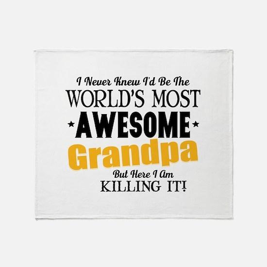 Awesome Grandpa Throw Blanket