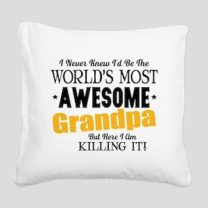 Awesome Grandpa Square Canvas Pillow