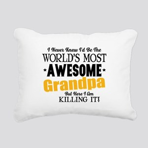 Awesome Grandpa Rectangular Canvas Pillow