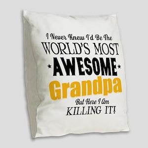 Awesome Grandpa Burlap Throw Pillow
