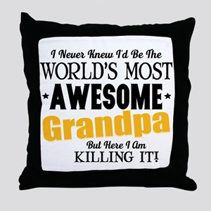 Awesome Grandpa Throw Pillow