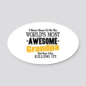 Awesome Grandpa Oval Car Magnet
