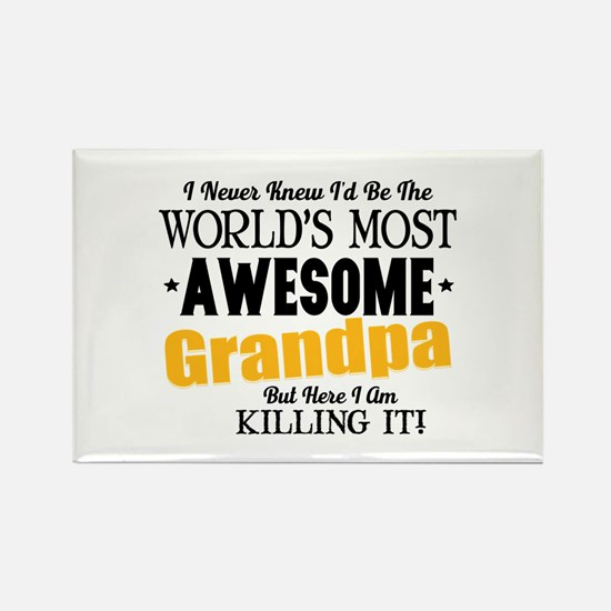 Awesome Grandpa Rectangle Magnet (10 pack)