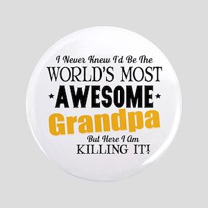 Awesome Grandpa Button