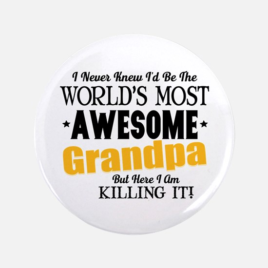 Awesome Grandpa Button