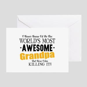 Awesome Grandpa Greeting Card