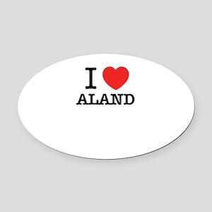 I Love ALAND Oval Car Magnet
