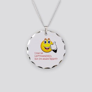 Left-Handed Necklace Circle Charm