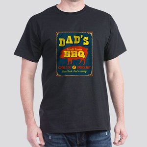 Vintage metal sign - Dad's BBQ - Ras T-Shirt