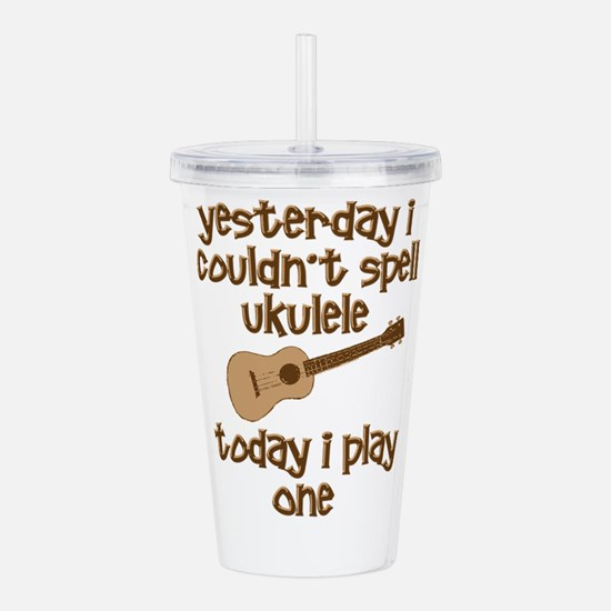 Funny Ukulele Acrylic Double-wall Tumbler