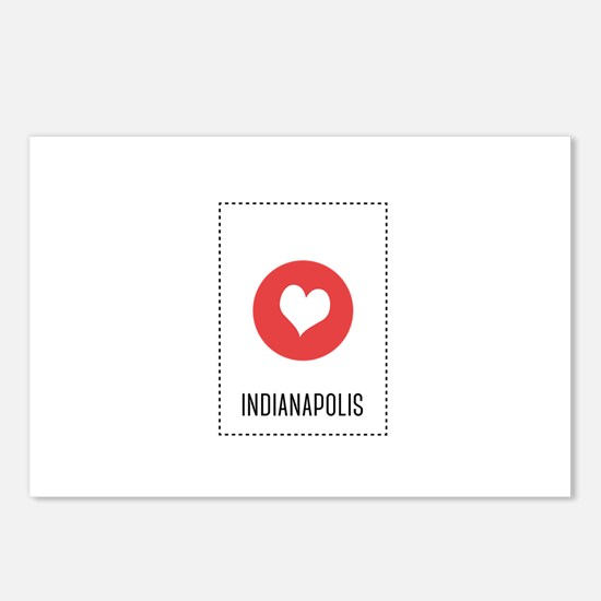 I Love Indianapolis Postcards (Package of 8)
