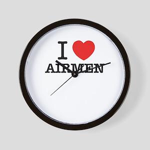 I Love AIRMEN Wall Clock