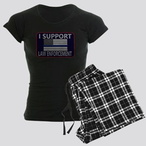 I Support Law Enforcement Women's Dark Pajamas