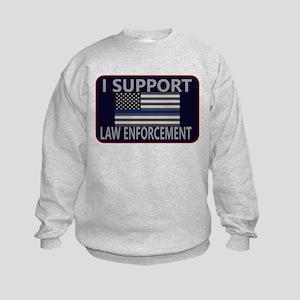 I Support Law Enforcement Kids Sweatshirt