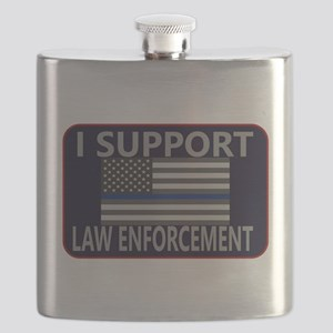 I Support Law Enforcement Flask