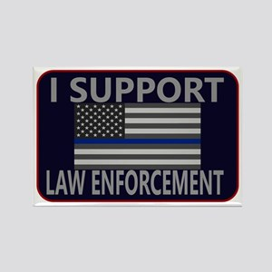 I Support Law Enforcement Rectangle Magnet