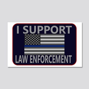 I Support Law Enforcement 20x12 Wall Decal
