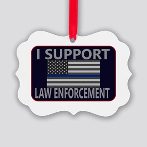 I Support Law Enforcement Picture Ornament