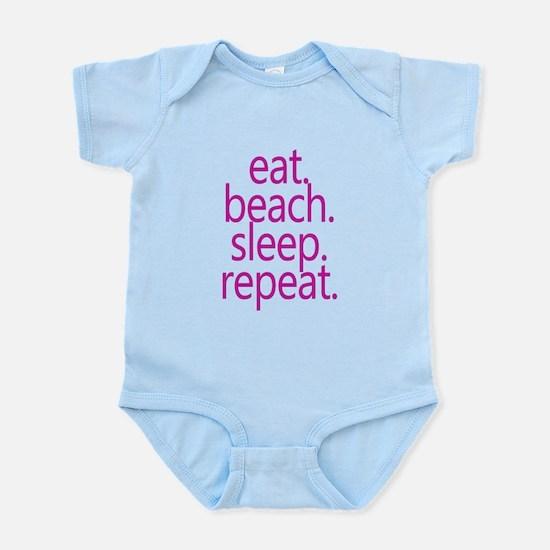 eat beach sleep repeat Body Suit