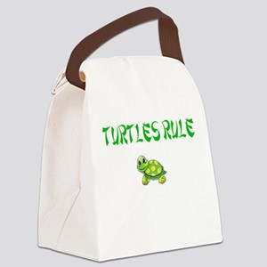 Turtles Rule Canvas Lunch Bag