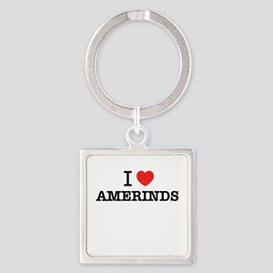 I Love AMERINDS Keychains